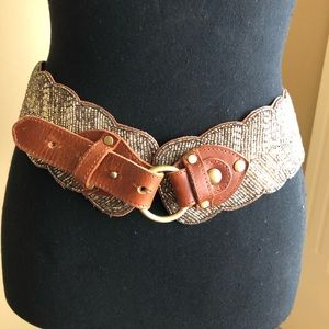 Anthropologie glass beaded belt!
